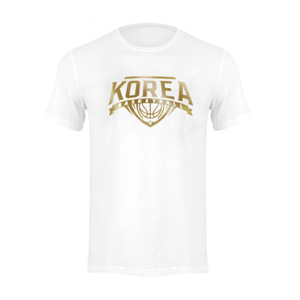 KOREA BASKETBALL 반팔티셔츠 흰색 GOLD EDITION